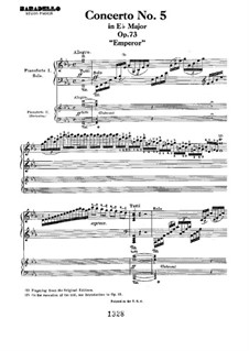 Фрагменты: Movement I. Version for two pianos four hands by Людвиг ван Бетховен