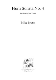 Horn Sonata No.4: 2nd. Movement by Mike Lyons
