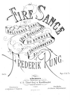 Четыре песни, Op.14: Четыре песни by Фредерик Рунг
