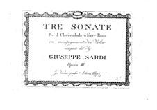 Три сонаты для скрипки и клавесина (или фортепиано): Три сонаты для скрипки и клавесина (или фортепиано) by Джузеппе Сарти