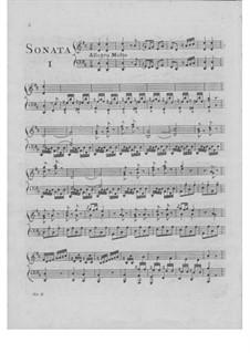 Две сонаты для клавесина и скрипки ad libitum, Op.5: Две сонаты для клавесина и скрипки ad libitum by Иоганн Шоберт
