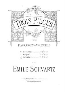 Aubade for Violin, Cello and Piano: Партия виолончели by Эмиль Шварц