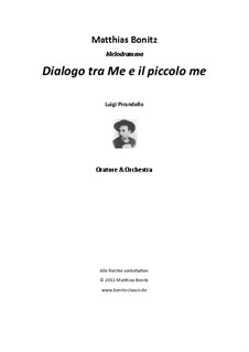 Dialogue between Me and the small me: Dialogue between Me and the small me by Matthias Bonitz