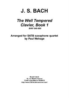Весь сборник, BWV 846-869: Arrangement for SATB saxophone quartet by Иоганн Себастьян Бах