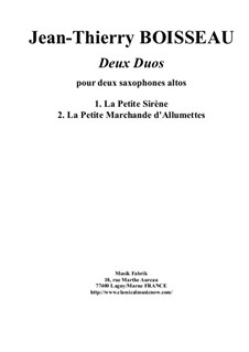Two Duos: For two alto saxophones by Jean-Thierry Boisseau