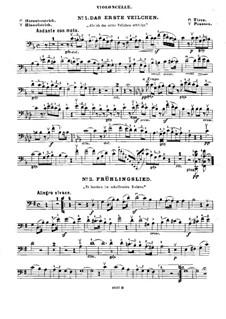 Избранные песни: Для вилолончели (или скрипки ad libitum) и фортепиано – партия виолончели by Феликс Мендельсон-Бартольди