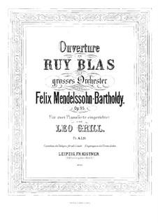 Рюи Блаз, Op.95: Для двух фортепиано в 4 руки – партия I фортепиано by Феликс Мендельсон-Бартольди