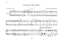 Рюи Блаз, Op.95: Для двух фортепиано в 8 рук – партия II фортепиано by Феликс Мендельсон-Бартольди