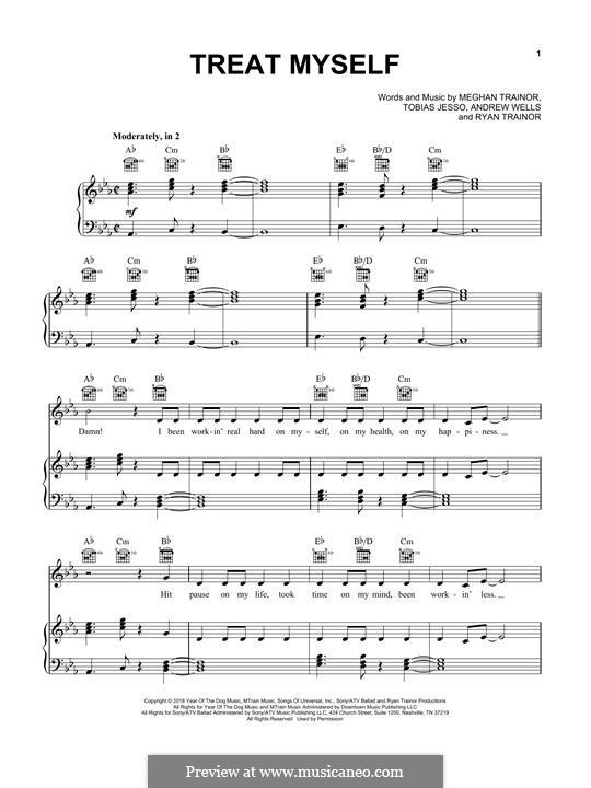 Treat Myself: Для голоса и фортепиано (или гитары) by Meghan Trainor, Andrew Wells, Tobias Jesso, Ryan Trainor