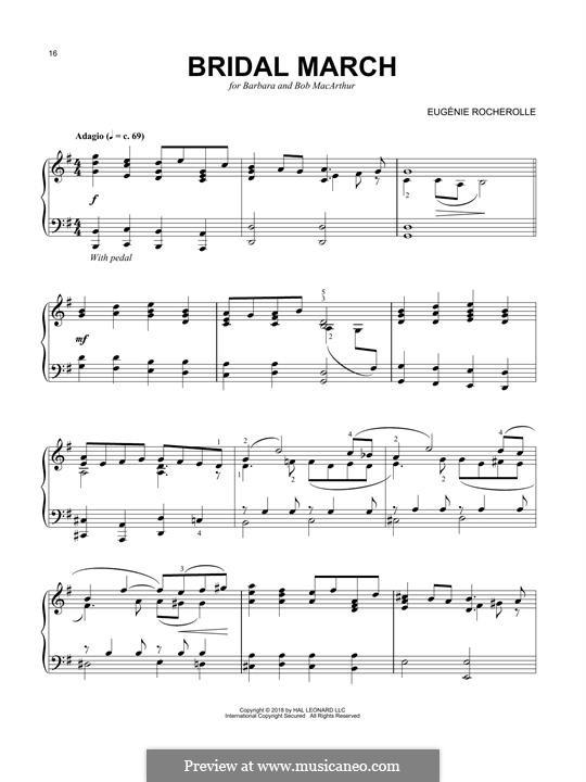 Bridal March: Для фортепиано by Eugénie Rocherolle