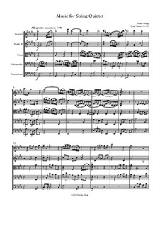 Music for String Quintet: Music for String Quintet by Jordan Grigg