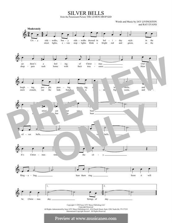 Silver Bells: Для флейты by Jay Livingston, Raymond Evans