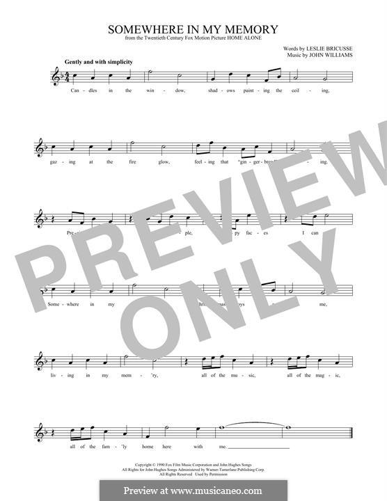 Somewhere in My Memory: Для флейты by John Williams