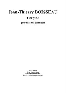 Canzone for oboe and harpsichord: Canzone for oboe and harpsichord by Jean-Thierry Boisseau