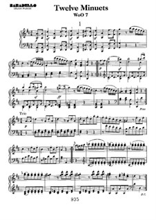 Двенадцать менуэтов, WoO 7: Для фортепиано by Людвиг ван Бетховен
