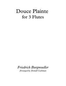 No.16 Douce Plainte (Lamentation): For flute trio by Иоганн Фридрих Бургмюллер