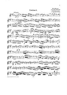 Концерт для фортепиано с оркестром No.12 ля мажор, K.414: Аранжировка для струнного квинтета – партия I скрипки by Вольфганг Амадей Моцарт