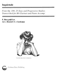 No.18 Inquiétude (Restlessness): Для кларнета и фортепиано by Иоганн Фридрих Бургмюллер
