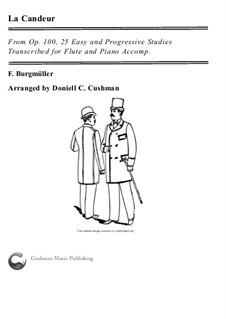 No.1 La Candeur: Для флейты и фортепиано by Иоганн Фридрих Бургмюллер