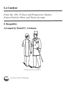 No.1 La Candeur: Для гобоя и фортепиано by Иоганн Фридрих Бургмюллер