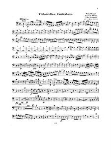 Концерт для фортепиано с оркестром No.13 до мажор, K.415: Переложение для струнного квинтета – Партия виолончели и контрабаса by Вольфганг Амадей Моцарт