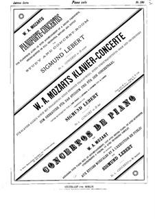 Концерт для фортепиано с оркестром No.5 ре мажор, K.175: Сольная партия by Вольфганг Амадей Моцарт