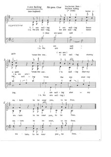 I Am Sailing: Für 4-6 - st. gem. Chor, Op.11.1 by folklore