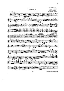 Концерт для фортепиано с оркестром No.13 до мажор, K.415: Аранжировка для струнного квинтета – партия I скрипки by Вольфганг Амадей Моцарт