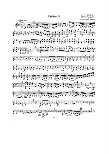 Концерт для фортепиано с оркестром No.13 до мажор, K.415: Переложение для струнного квинтета – Партия II скрипки by Вольфганг Амадей Моцарт