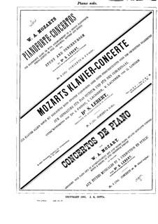 Концерт для фортепиано с оркестром No.14 ми-бемоль мажор, K.449: Сольная партия by Вольфганг Амадей Моцарт