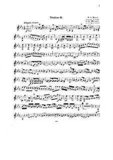 Концерт для фортепиано с оркестром No.14 ми-бемоль мажор, K.449: Аранжировка для струнного квинтета – партии II скрипок by Вольфганг Амадей Моцарт