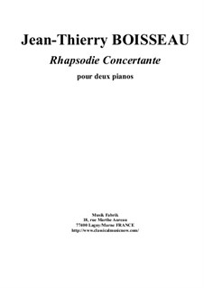 Rhapsodie Concertante for two pianos: Rhapsodie Concertante for two pianos by Jean-Thierry Boisseau