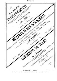Концерт для фортепиано с оркестром No.11 фа мажор, K.413: Сольная партия by Вольфганг Амадей Моцарт