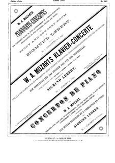 Концерт для фортепиано с оркестром No.8 до мажор 'Лютцов-концерт', K.246: Сольная партия by Вольфганг Амадей Моцарт