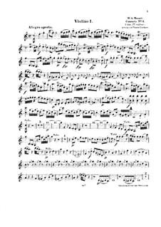 Концерт для фортепиано с оркестром No.8 до мажор 'Лютцов-концерт', K.246: Аранжировка для струнного квинтета – партия I скрипки by Вольфганг Амадей Моцарт