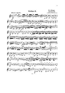 Концерт для фортепиано с оркестром No.8 до мажор 'Лютцов-концерт', K.246: Аранжировка для струнного квинтета – партии II скрипок by Вольфганг Амадей Моцарт
