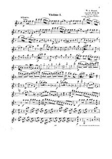 Концерт для фортепиано с оркестром No.19 фа мажор, K.459: Аранжировка для струнного квинтета – партия I скрипки by Вольфганг Амадей Моцарт