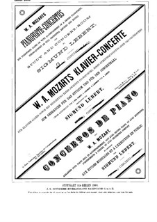Концерт для фортепиано с оркестром No.19 фа мажор, K.459: Сольная партия by Вольфганг Амадей Моцарт