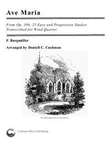 No.19 Ave Maria: For wind quartet by Иоганн Фридрих Бургмюллер