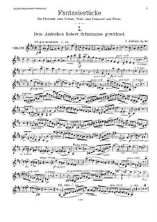 Фантастические пьесы, Op.12: Партия скрипки by Йохан Амберг