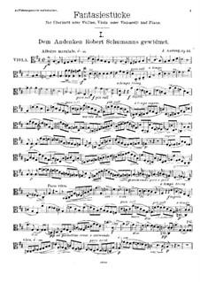 Фантастические пьесы, Op.12: Партия альта by Йохан Амберг