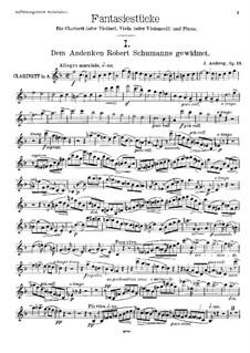 Фантастические пьесы, Op.12: Партия кларнета by Йохан Амберг