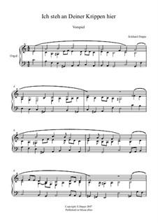 Lied - und Choralvorspiele. Band 1: Nr.8 Ich steh an deiner Krippe hier by Eckhard Deppe