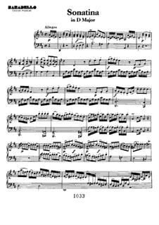 Три сонатины для фортепиано: Sonatina No.3 in D Major by Людвиг ван Бетховен