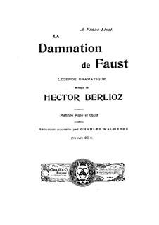 Осуждение Фауста, H.111 Op.24: Клавир с вокальной партией by Гектор Берлиоз
