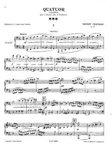 Струнный квартет до-минор, Op.35: Версия для фортепиано в 4 руки by Эрнест Шоссон