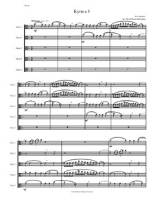 Kyrie canon a 5: For 5 violas by Вольфганг Амадей Моцарт