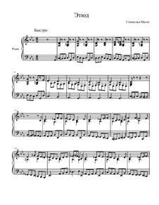 Три этюда для фортепиано, Op.10: No.2 Этюд до минор by Станислав Маген