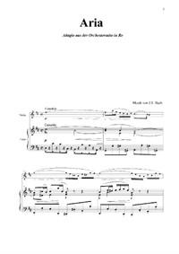 Aria. Adagio aus der Orchestersuite No.3, D-Dur, BWV1068