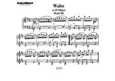 Вальс для фортепиано ре мажор, WoO 85: Для одного исполнителя by Людвиг ван Бетховен